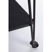 Comoda mobila cu cadru fier negru si polite sticla Zaira 75.5 cm x 36 cm x 74 h