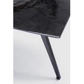 Masa cu picioare din fier si blat lemn negru Codrin 200 cm x 90 cm x 76 h