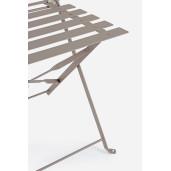Set 2 scaune pliabile si masa pliabila fier forjat maro Wissant