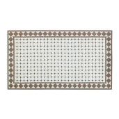 Masa din fier maro cu blat din mosaic maro alb Duke 160 cm x 90 cm x 75 h