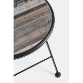 Set 2 scaune pliabile si 1 masa din fier negru si ceramica multicolora Huston 38 cm x 38 cm x 92 h x 46 h1
