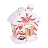 Casuta Craciun cu led Candy ceramica 12x7x14h