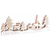 Decor de iarna cu reni lemn 26 cm x 2 cm x 13.5 cm
