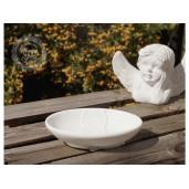 Savoniera ceramica alba Flowers 14x10 cm