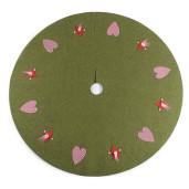 Covoras textil brad Heart Green Ø 100 cm