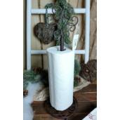 Suport rola hartie bucatarie fier forjat maro Ø 15 cm x 42 cm