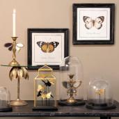 Sfesnic lumanare polirasina auriu antique model Fluturas 16 cm x 9 x 23 cm