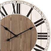 Ceas de perete retro lemn alb negru natur Ø 70 cm x 5 cm