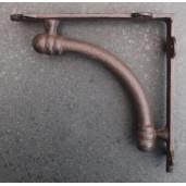 Suport pentru polita fier forjat maro 19x19x5 cm