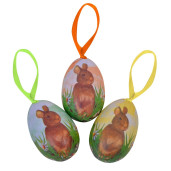 Set 6 oua Paste suspendabile Happy Easter 6 cm x 4.5 cm