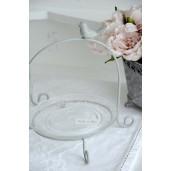 Platou sticla cu suport metal Bird 26 cm x 24 cm x 25 cm