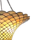 Lustra din fier culoarea cupru si abajur din sticla Tiffany Ø 60 cm