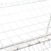 Raft fier forjat alb vintage 3 polite 42x36x95 cm