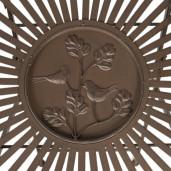 Masa rotunda pliabila din fier maro Ø 70 cm x 74 h