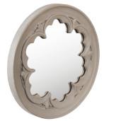Oglinda decorativa perete gri vintage Ø 50x4 cm