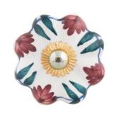 Buton mobila din fier si ceramica multicolora Ø 4 cm x 3 cm