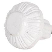 Buton mobila din fier alb Ø 3 cm x 3 cm