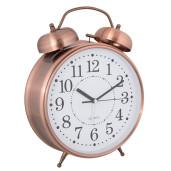 Ceas desteptator de masa metal cupru clasic Ø 11 cm x 15 h