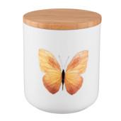 Borcan ceramica cu capac inchidere ermetica condimente Butterfly 10 cm x 13 cm