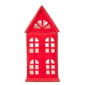 Candela ceramica Red House 11 x 10 x 23 cm
