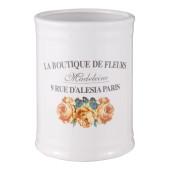 Set baie ceramica alba 4 piese Fleurs Ø 8x11 cm 0,35L
