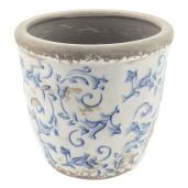 Ghiveci flori ceramica Elegance Blue Ø 14x13 cm