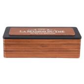 Cutie din lemn pentru ceai 3 compartimente 22 cm x 8 cm x 7 cm
