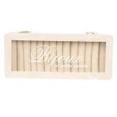 Cutie bijuterii cu organizator inele 3 compartimente lemn alb Bijoux 24 cm x 10 cm x 12 cm