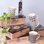 Cutie ceai lemn natur negru 1 compartiment cm 28 x 8 cm x 9 H