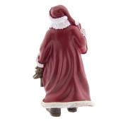 Figurina Mos Craciun polirasina burgundy 12x11x26 cm