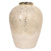 Vaza decorativa ceramica aurie Ø 22 cm x 29 cm