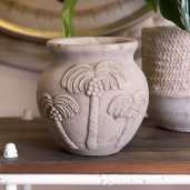 Ghiveci din ceramica gri Palmieri Ø 15 cm x 14 h