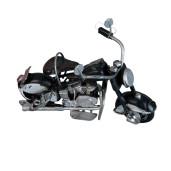 Macheta motocicleta retro metal negru 11 cm x 6 cm x 7 cm