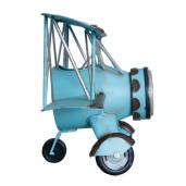 Ceas metal albastru de masa si perete model Avion 30 cm x 14 cm x 18 cm