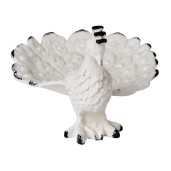 Decor polirasina alb negru Paun 9 cm x 7 cm x 16 cm