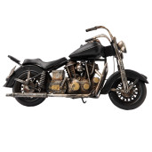 Macheta motocicleta retro metal neagra 35x13x20 cm