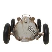 Macheta masina de curse retro argintie 28x13x8 cm