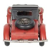 Macheta masina retro metal negru rosu 35 cm x 14 cm x 12 cm