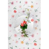 Fata de masa bumbac Flowers 150 cm x 150 cm