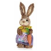 Figurina Iepuras Paste rochita lila