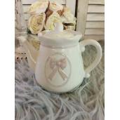 Ceainic ceramica alba 19 cm x 12 cm x 14 cm 0,6L