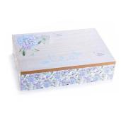 Cutie ceai lemn 6 compartimente Tea albastru cm 24 x 17 cm x 6 H