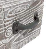 Ghiveci ceramica gri tip sertar 13 cm x 11 cm