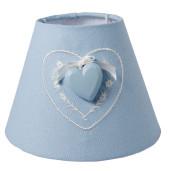 Abajur veioza textil albastru Cuore Ø 17x13 cm