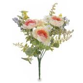 Buchet peonia artificiale roz 32 cm