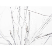 Copac  decorativ alb cu led Ø 75 cm x 130 H