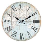 Ceas de perete cu model glob pamantesc Ø 34x4 cm