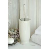 Perie toaleta ceramica alba Ø 12x24 cm