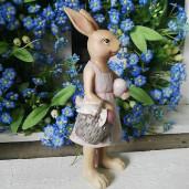 Figurina Iepuras Paste Girl polirasina 6 cm x 5 cm x 14 cm