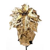 Poinsetta Gold decorativa 80 cm